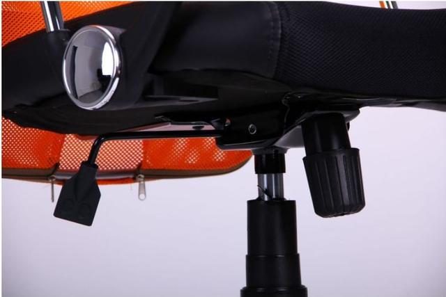 Кресло АЭРО HB Line Color сиденье Сетка чёрная,Неаполь N-20/спинка Сетка оранжевая, вст.Неаполь N-20 (фото 14)