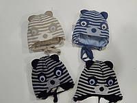 Шапочка зимняя для мальчика ТМ Barbaras объем головы 40-42, 42-44 коричневая, синяя, черная, серая, фото 1