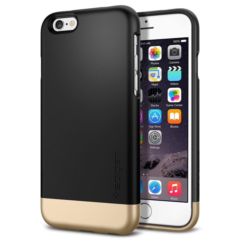 Чехол Spigen для iPhone 6s / 6 Style Armor, Black, фото 1