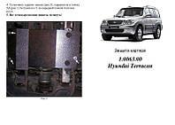 Защита на двигатель, КПП, радиатор для Hyundai Terracan (2001-2007) Mодификация: 2.9D; 3.5i Кольчуга 1.0063.00 Покрытие: Полимерная краска