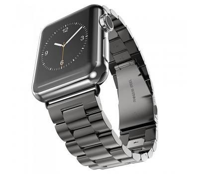 Металлический ремешок, Baseus, для Apple Watch 44 mm 7-Bead Metal Band - Black BS-3112
