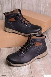 Ботинки зимние мужские в спортивном стиле,  эко-кожа