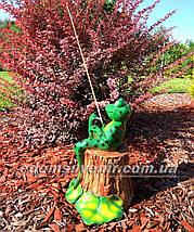 Садовая фигура Лягушка рыбак, фото 2