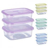 Набор контейнеров пластиковых для пищевых продуктов 3шт/наб 300мл PT-82729 (50шт)