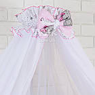 Комплект постельного белья Asik Мишка Girl и звёздочки на розовом 8 предметов (8-303), фото 2