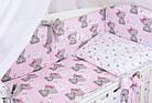 Комплект постельного белья Asik Мишка Girl и звёздочки на розовом 8 предметов (8-303), фото 3