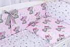 Комплект постельного белья Asik Мишка Girl и звёздочки на розовом 8 предметов (8-303), фото 4