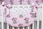 Комплект постельного белья Asik Мишка Girl и звёздочки на розовом 8 предметов (8-303), фото 5