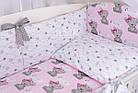 Комплект постельного белья Asik Мишка Girl и звёздочки на розовом 8 предметов (8-303), фото 6