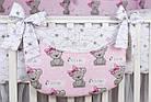 Комплект постельного белья Asik Мишка Girl и звёздочки на розовом 8 предметов (8-303), фото 8
