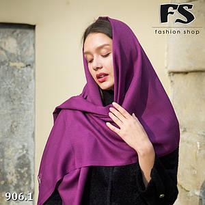 Фиолетовый шарф из пашмины