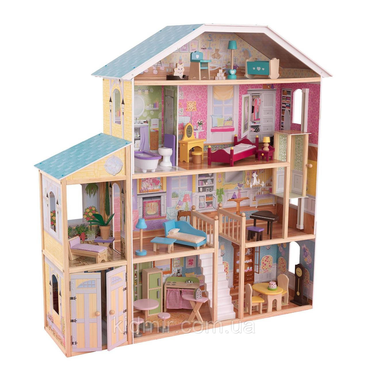 Кукольный дом с мебелью Величественный особняк KidKraft Majestic Mansion 65252