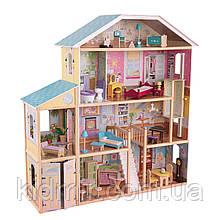 Дом для кукол Кидкрафт Величественный особняк кукольный домик с мебелью KidKraft Majestic Mansion 65252