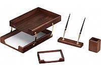 Набор настольный деревянный из 4 предметов ( O36427 )