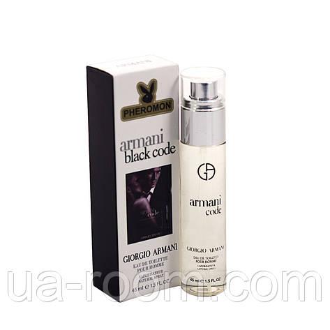 Мужскоймини-парфюм с феромоном Giorgio Armani Armani black code, 45 мл., фото 2