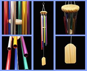 Поющие ветра 6 трубок Цветные