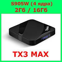Смарт ТВ Приставка Tanix TX3 MAX 2/16, Smart tv box