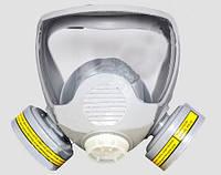 Маска лицевая обзорная с химическими фильтрами марки А в резиновой оправе (DR-0023)