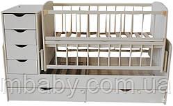 Детская кроватка трансформер №3 (Слоновая кость)
