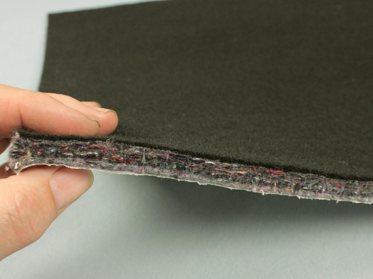 Шумо-звукоізоляція повстяна НВ-10К, ламінована нетканкой, 50х75 см, товщина 1 см, самоклейка