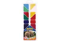 """Краски акварельные медовые """"Africa"""", 12 цветов, без кисточки, пластик"""