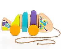 Деревянная игрушка Рибка-каталка 13630