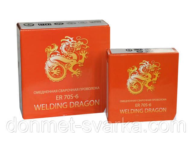 Сварочная проволока омедненная ER 70S-6 ф1,0мм 5кг Welding Dragon
