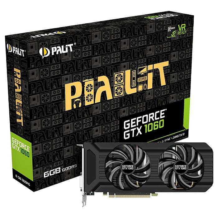 "Видеокарта Palit Dual GTX 1060 6GB GDDR5 192bit (NE51060015J9-1061D) ""Over-Stock"" Б\У"