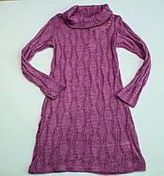 Красивое  вязаное платье для девочки, фото 1