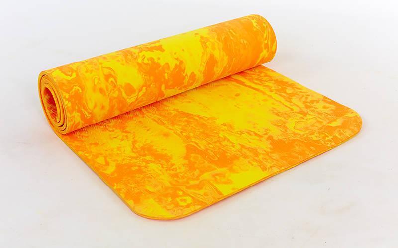 Коврик для фитнеса и йоги PER 8мм SP-Planeta оранжевый FI-4936
