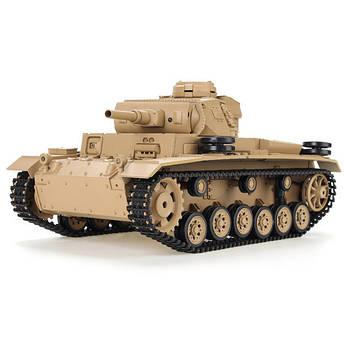 Танк на радиоуправлении HENG LONG Tauch Panzer III Ausf.H пневматическая пушка, стреляющая пластиковыми