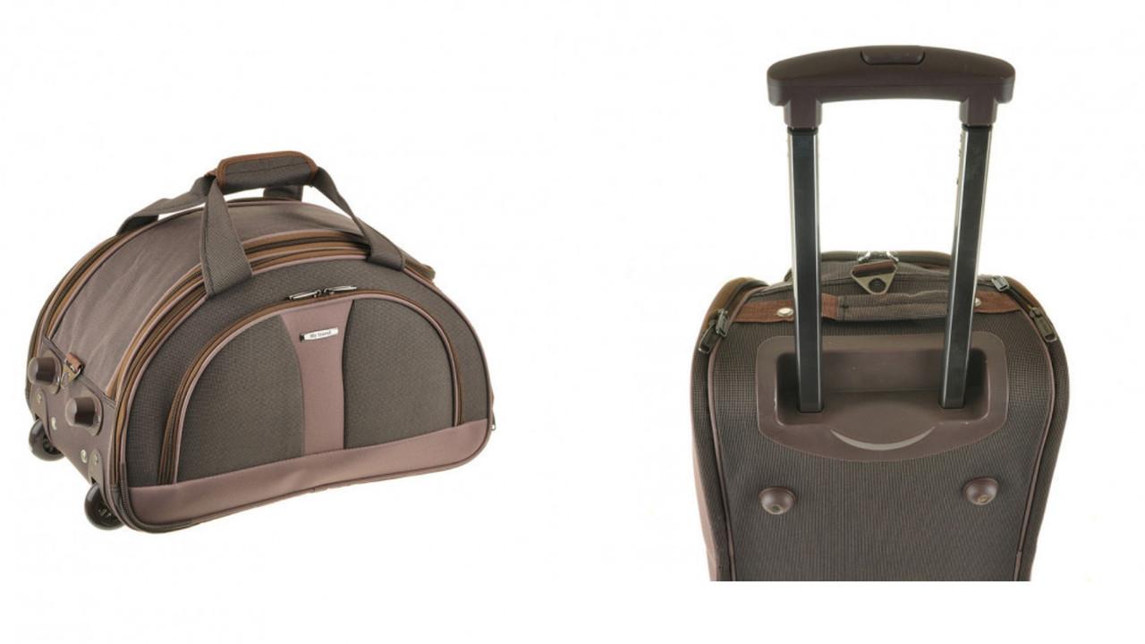 Сумка - чемодан на колесах с выдвижной ручкой 66х38х40 см 100 л