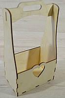 Цветочная коробка ,кашпо,корзинка с сердцем из фанеры.