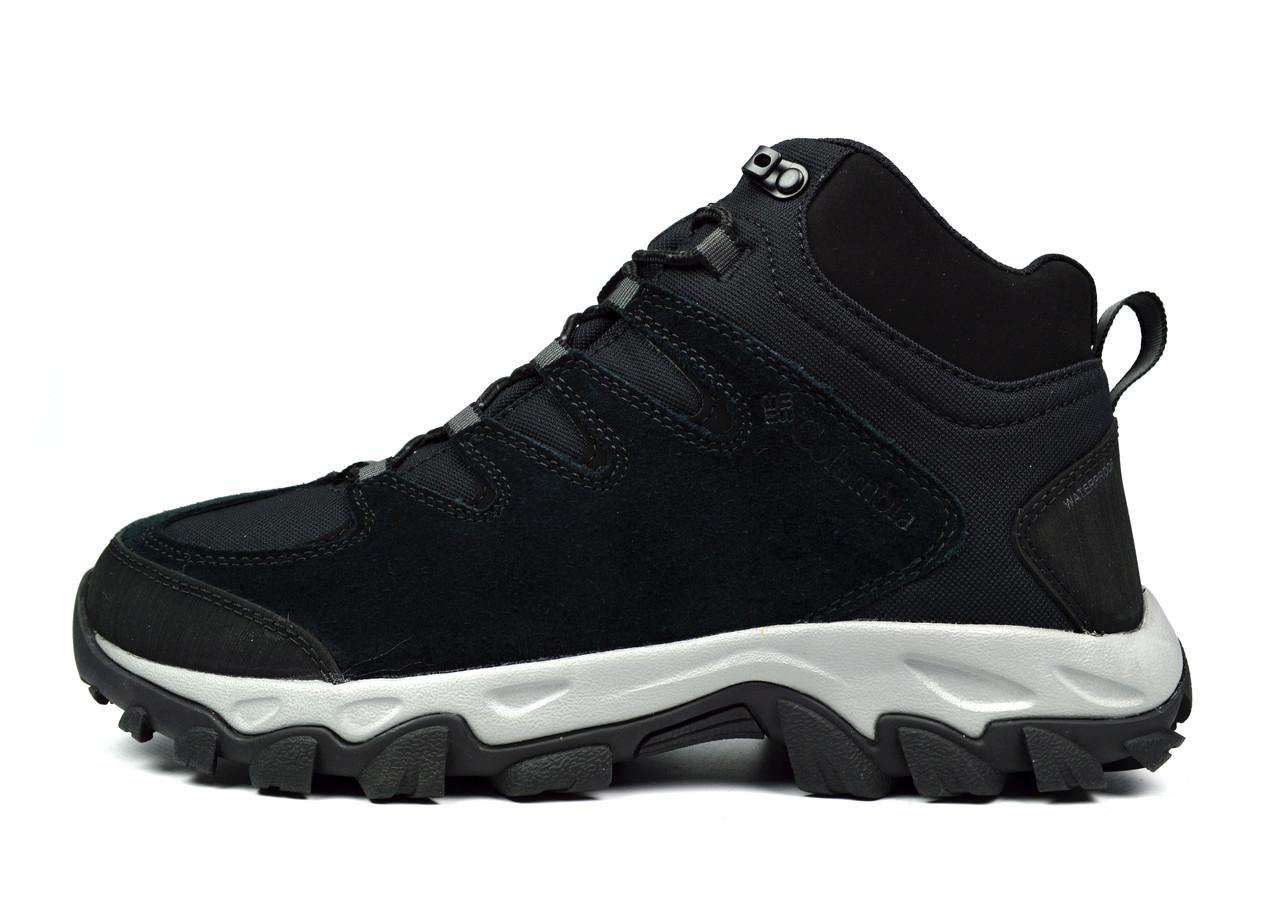 Черные зимние мужские ботинки COLUMBIA BUXTON PEAK MID WATERPROOF ( ОРИГИНАЛ )