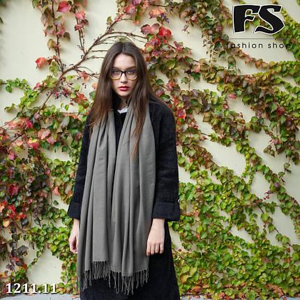 Стильный шарф из пашмины цвет хаки, фото 2