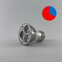 Светодиодная ФИТО Лампа FL-001 - 6W E27 ( Биколор )