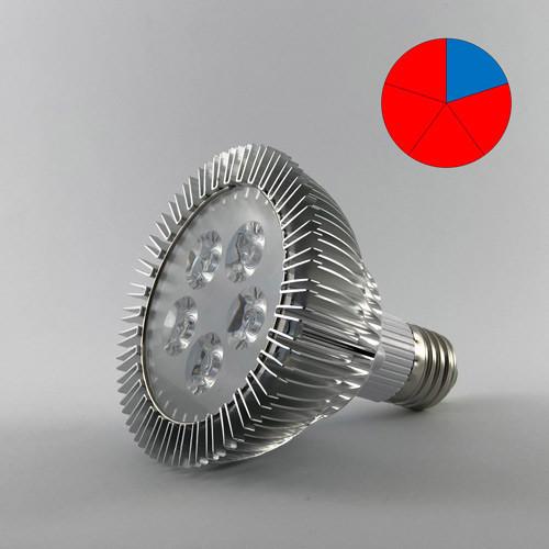 Светодиодная фито-лампа  15W E27 (Биколор)