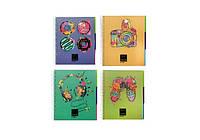 """Блокнот """"Panton"""" с разделителями 175х206мм, пластиковая обложка с печатью, полноцветная вкладка, ПВХ"""