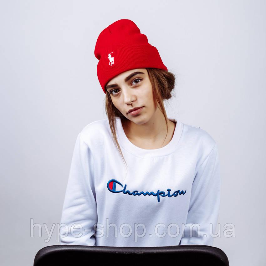 Женская зимняя шапка в стиле Ralph Lauren  | Топ качество!