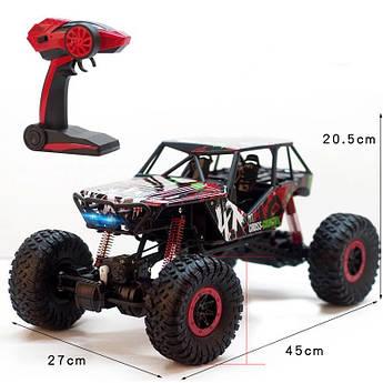Радиоуправляемая машинка на пульте управления Rock Crawler HB-P1001 Красный