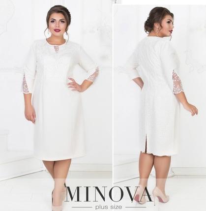 Платье нарядное праздничное  большого размера Минова Фабрика моды  р. 52-60, фото 2