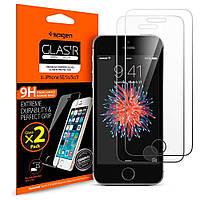 Защитное стекло Spigen для iPhone SE/5S/5, 2 шт (041GL20166)