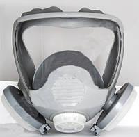 Маска лицевая обзорная с пылевыми фильтрами (диски) в резиновой оправе (DR-0025)