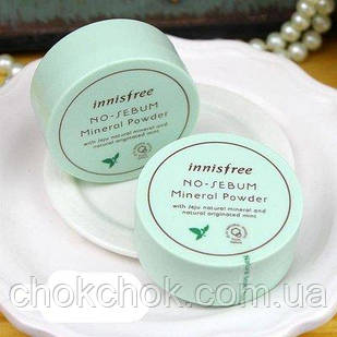 Минеральная прозрачная рассыпчатая пудра Innisfree – No sebum mineral powder 5гр