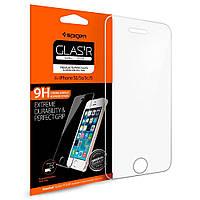 Захисне скло Spigen для iPhone SE/5S/5 (041GL20597) + Безкоштовна поклейка