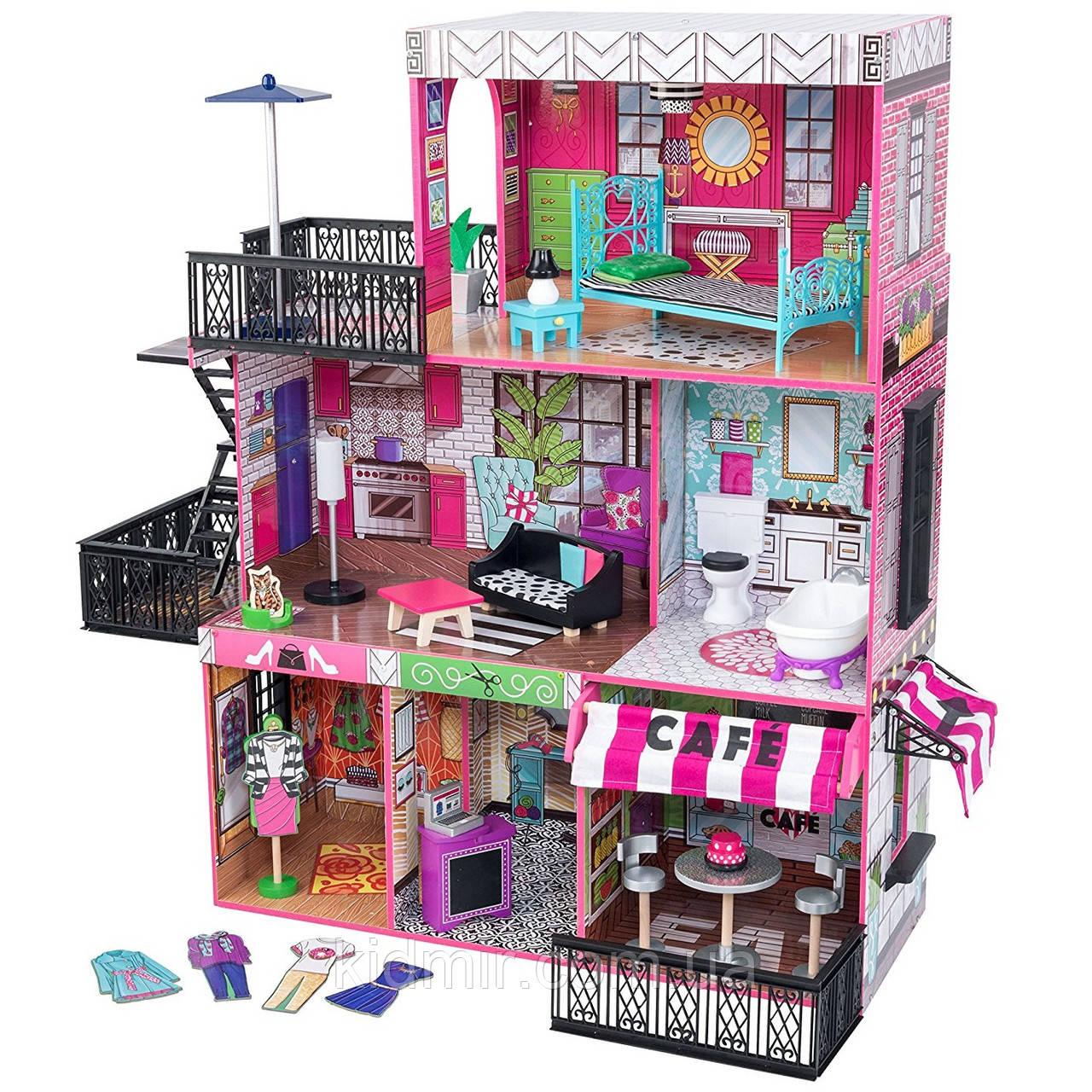 Кукольный дом с мебелью Бруклинский лофт KidKraft Brooklyn's Loft 65922