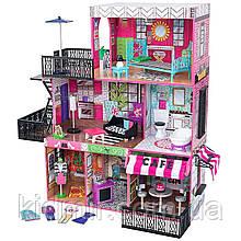 Дом для кукол Кидкрафт Бруклинский лофт кукольный домик с мебелью KidKraft Brooklyn's Loft 65922