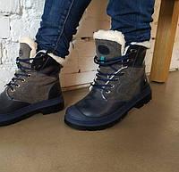 Ботинки женские синие на шнурках  Литма, фото 1