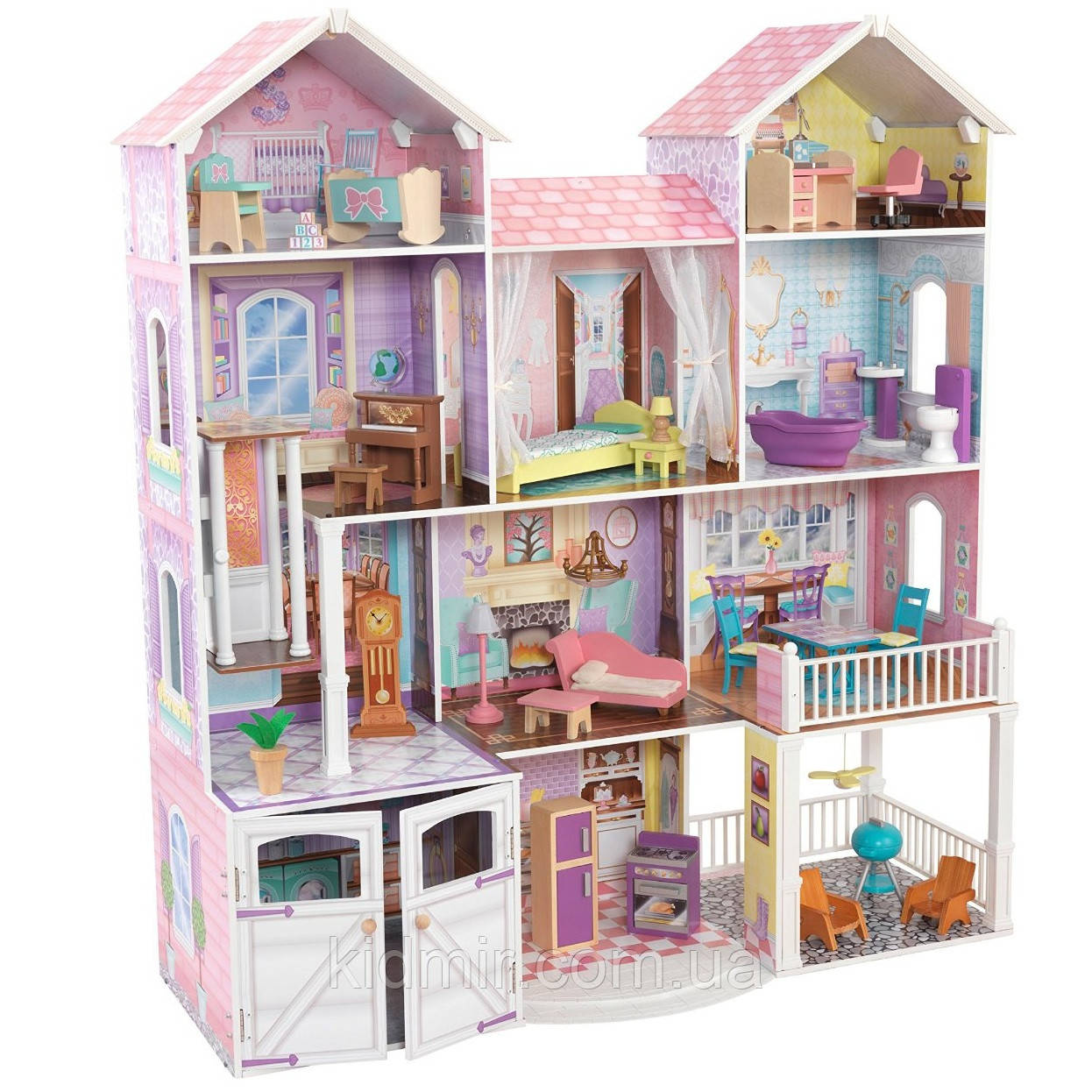 Ляльковий будинок з меблями Заміська садиба KidKraft Kensington 65242