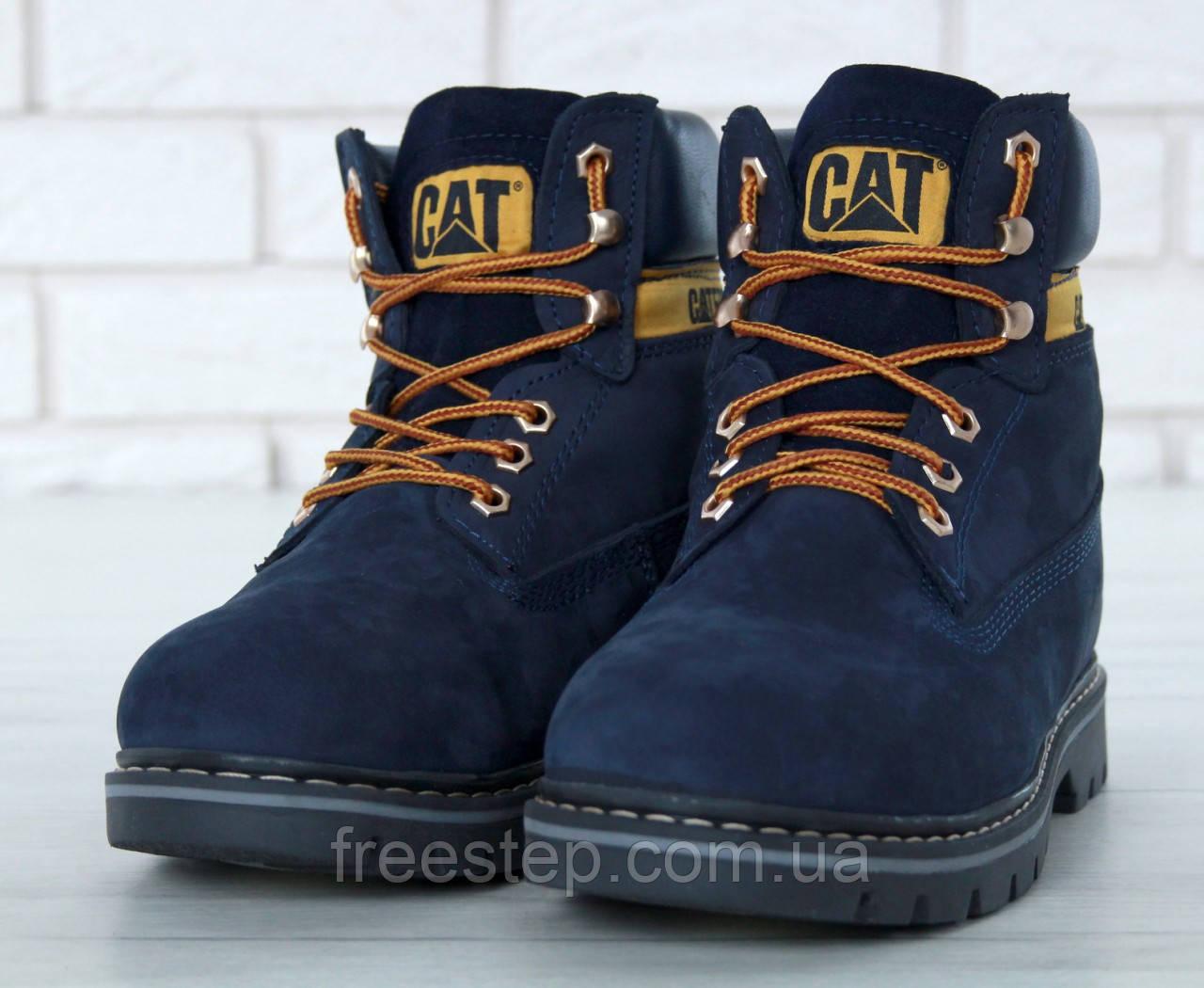 40af0ed08 Зимние ботинки в стиле Caterpillar (CAT), натур. нубук, мех, размеры ...